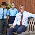Nicholas with Head Boy & Head Girl